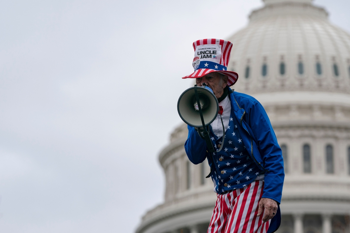 Cosplay convention or protest to 'stop the steal'? Trump supporters adopt bizarre costumes to storm US Capitol