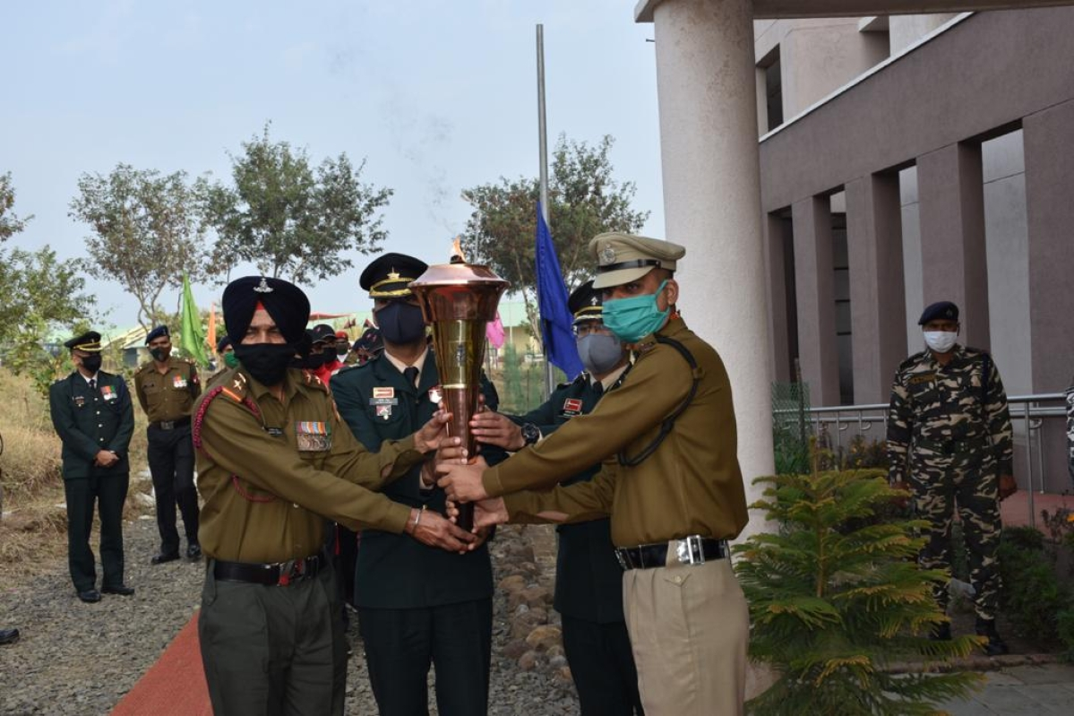 Victory flame at BSF HQ in Bhopal on Friday