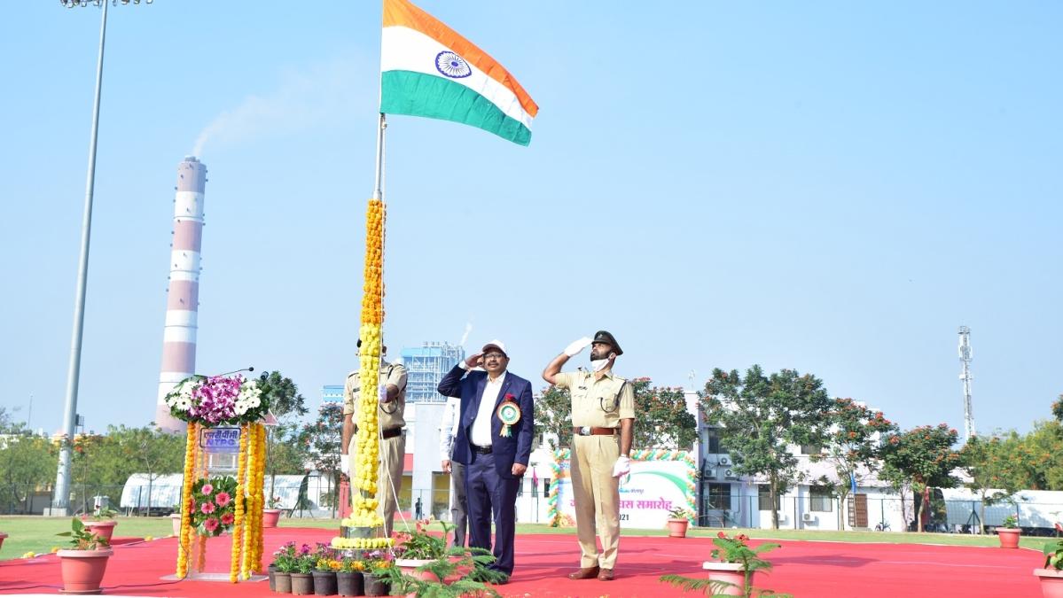 NTPC-Solapur celebrates 72nd Republic Day