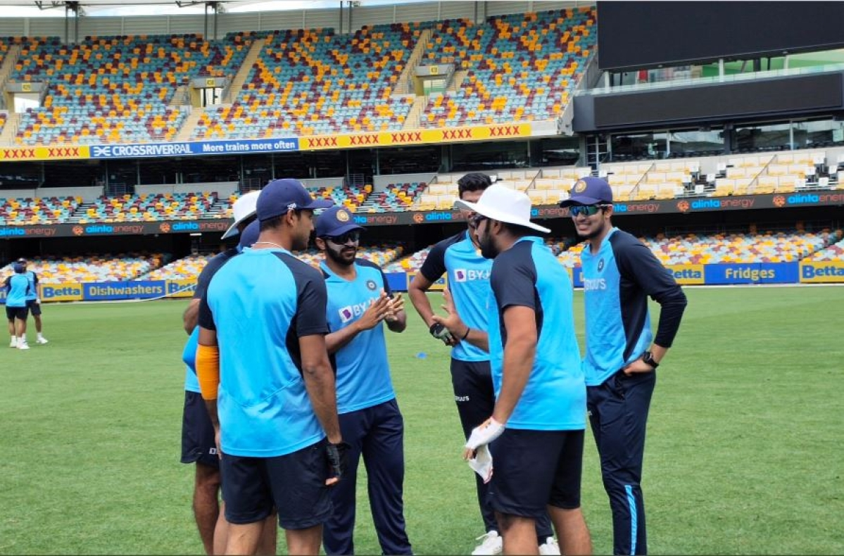 team India on the eve of the match at the Gabba