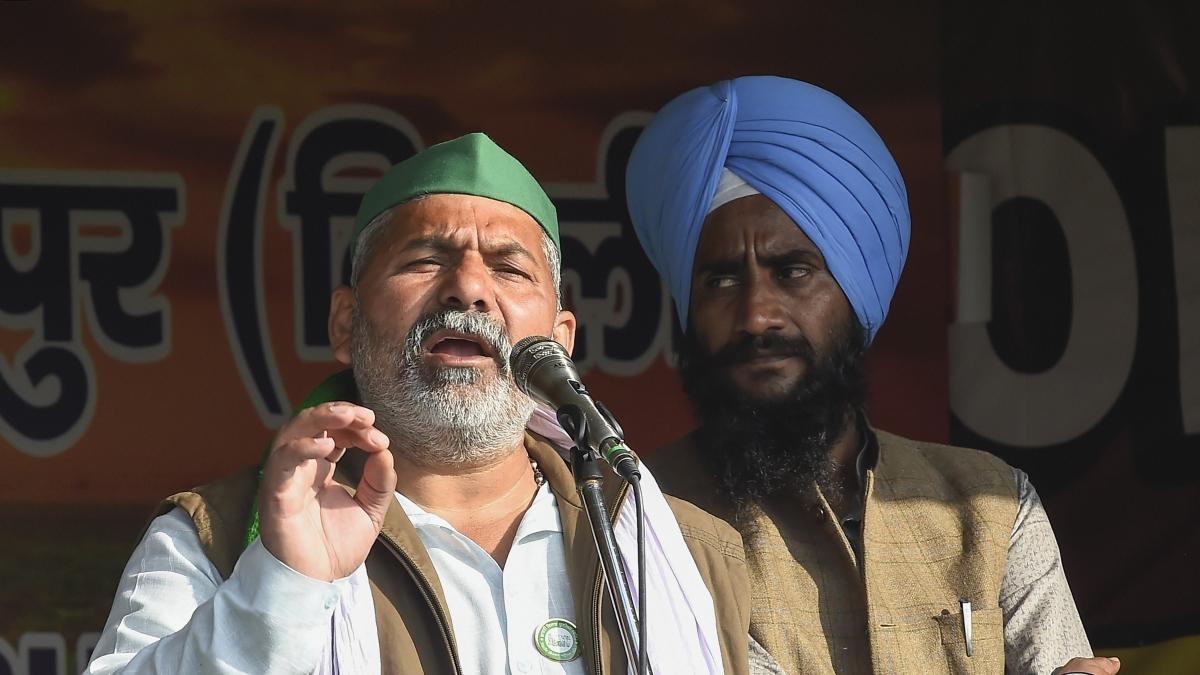 Rakesh Tikait alleges BJP members masqueraded as farmers, vandalised Delhi on Jan 26