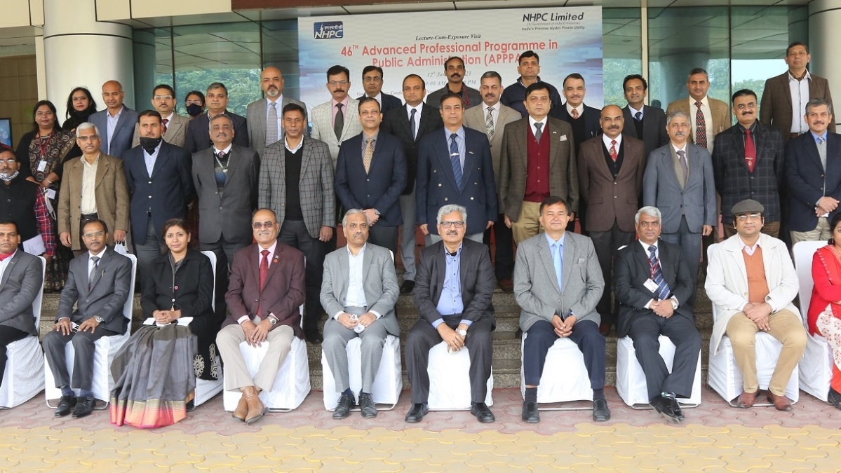 Lecture-cum-Exposure visit to NHPC held under '46th Advanced Professional Programme in Public Administration'