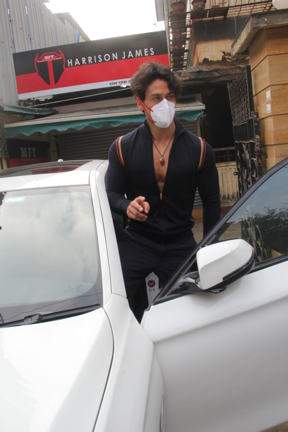 Tiger Shroff spotted in Bandra
