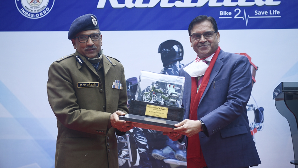 Central Reserve Police Force, INMAS launch bike ambulance RAKSHITA for evacuation in remote regions