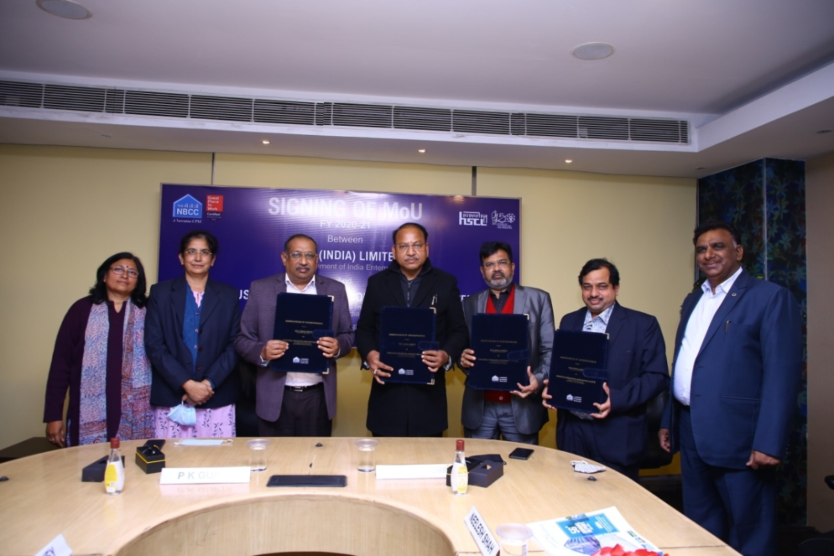 NBCC signs MoU with subsidiary company Hindustan Steelworks Construction Limited
