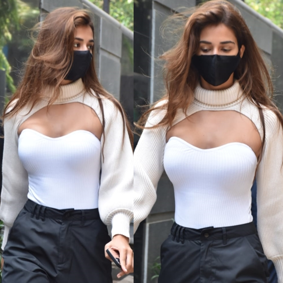 In Pics: Disha Patani makes a bold 'winter' fashion statement in a high neck super crop sweater