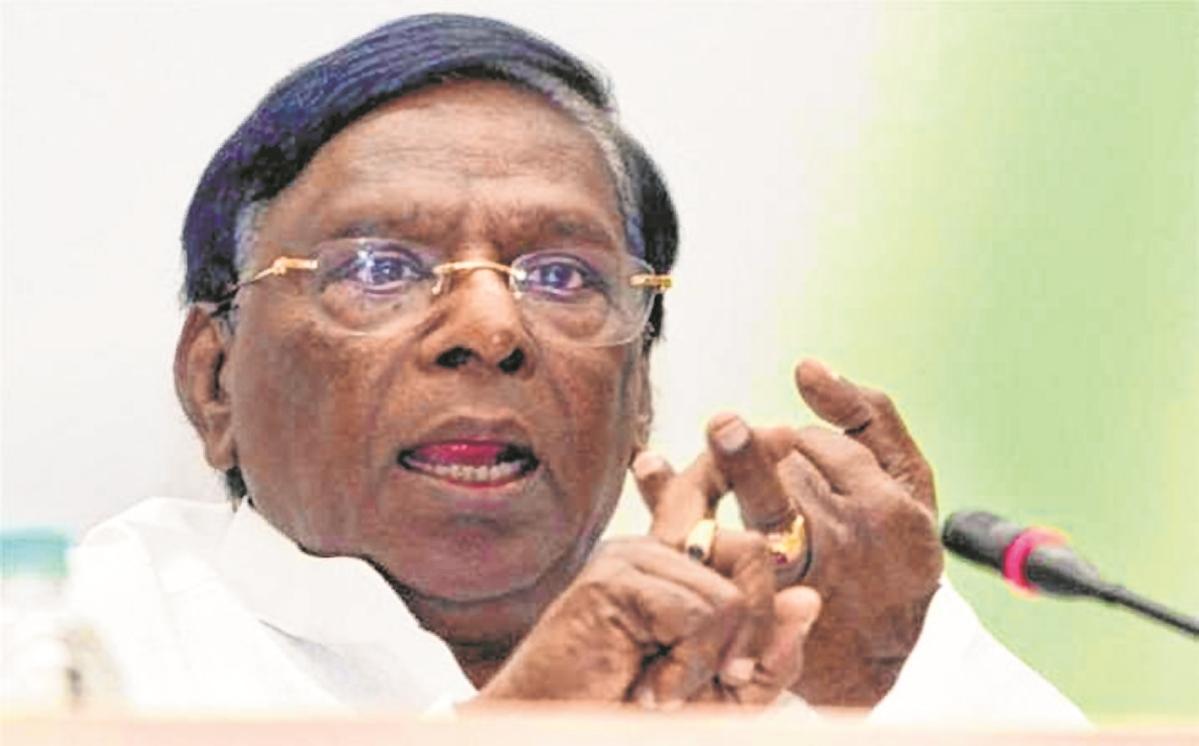Resign or prove majority, AIADMK tells Pondy CM V Narayanasamy