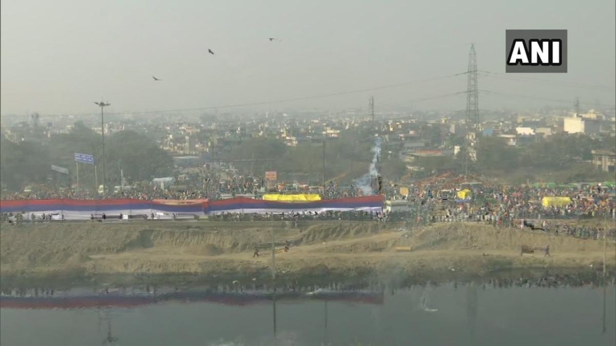Police used tear gas shells at Sanjay Gandhi Transport Nagar