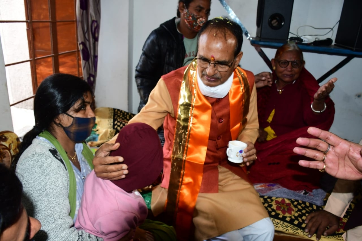Chief minister in Shivraj Singh Chouhan in Pachsheel Nagar in Indore on Friday
