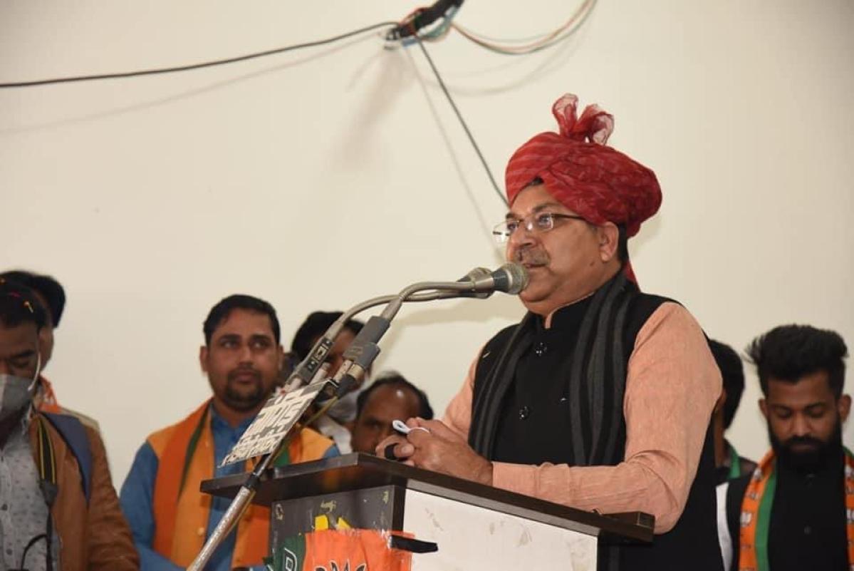 State BJP president Satish Poonia