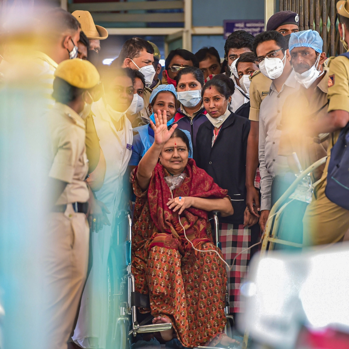 VK Sasikala released from prison after serving 4 years in disproportionate assets case