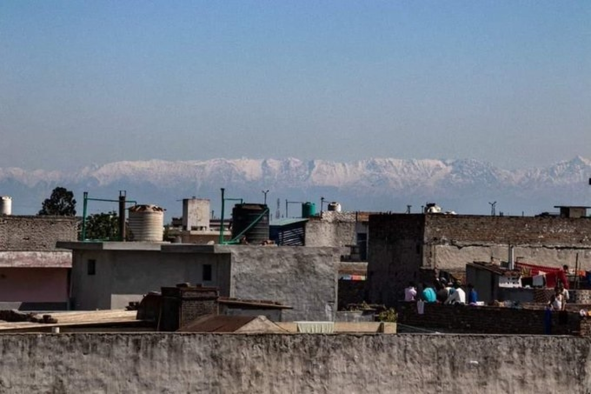 Lockdown plus: The Himalayas were visible from Jalandhar, Punjab, after decades