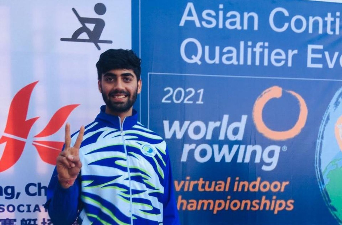 GUNA: Mehul Krishnani secures first place in Asian qualification for World Indoor Rowing Championship