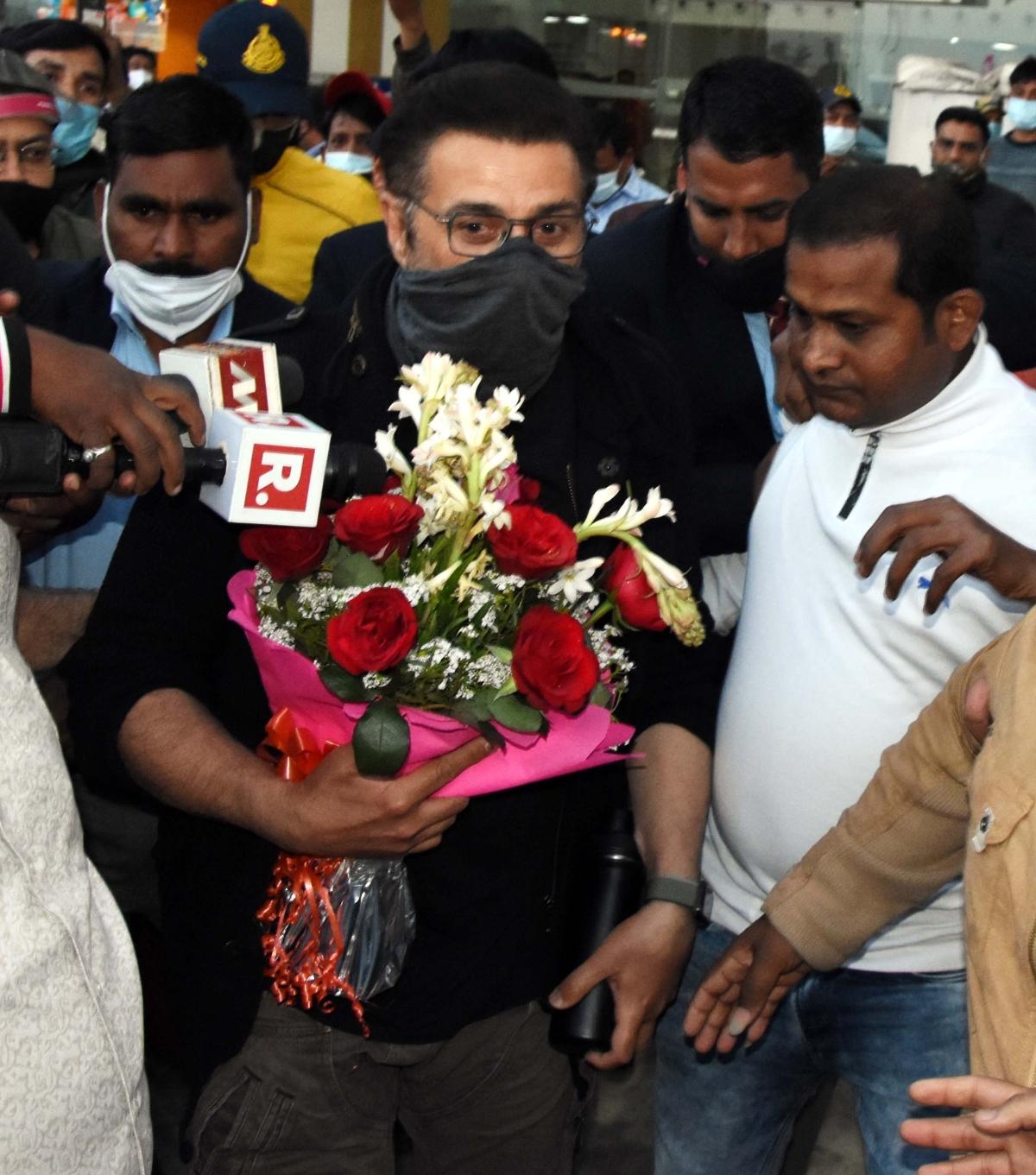 Bollywood actor Sunny Deol arrives Bhopal on Friday.