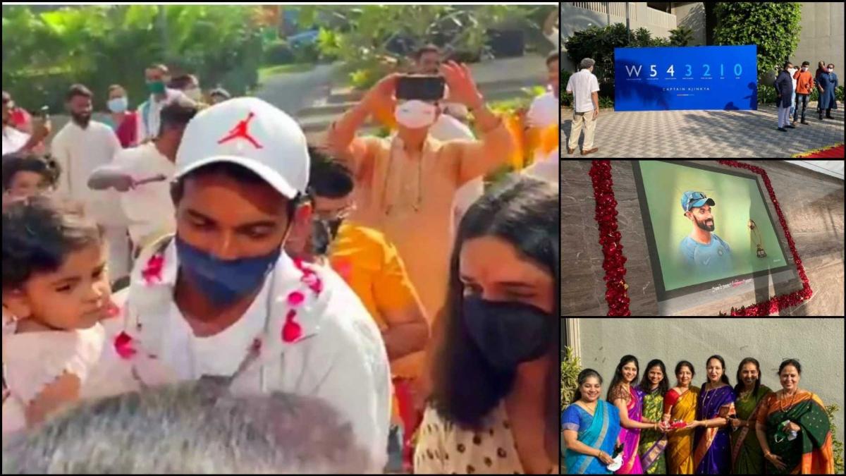 A hero's welcome: Ajinkya Rahane gets a grand reception at Mumbai after the historic win in Australia