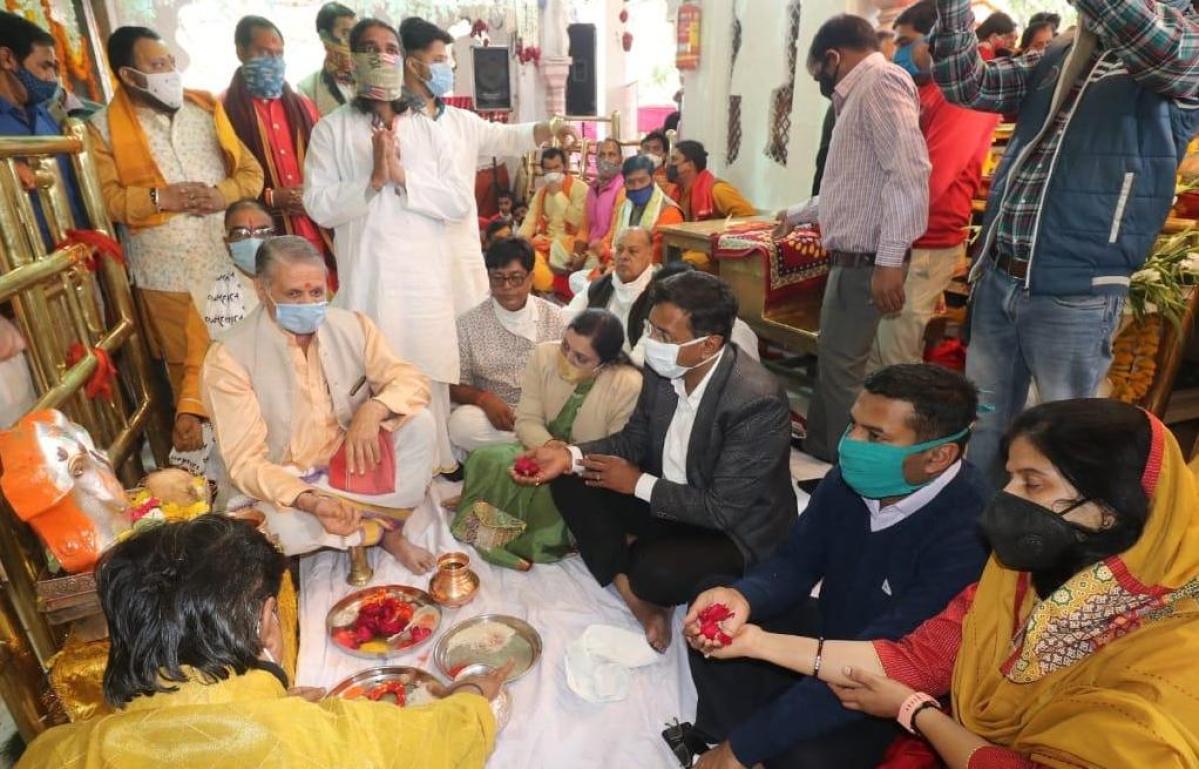 DM nad IG at Khajrana Ganesh temple