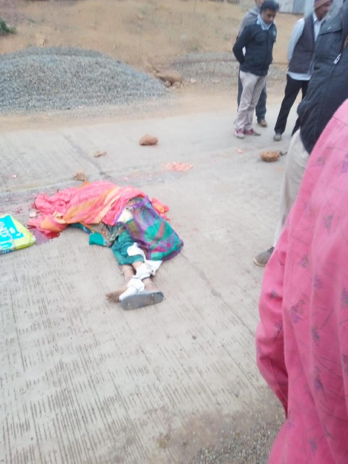 Woman labourer crushed to death by dumper at work site in Garoth on Sunday evening