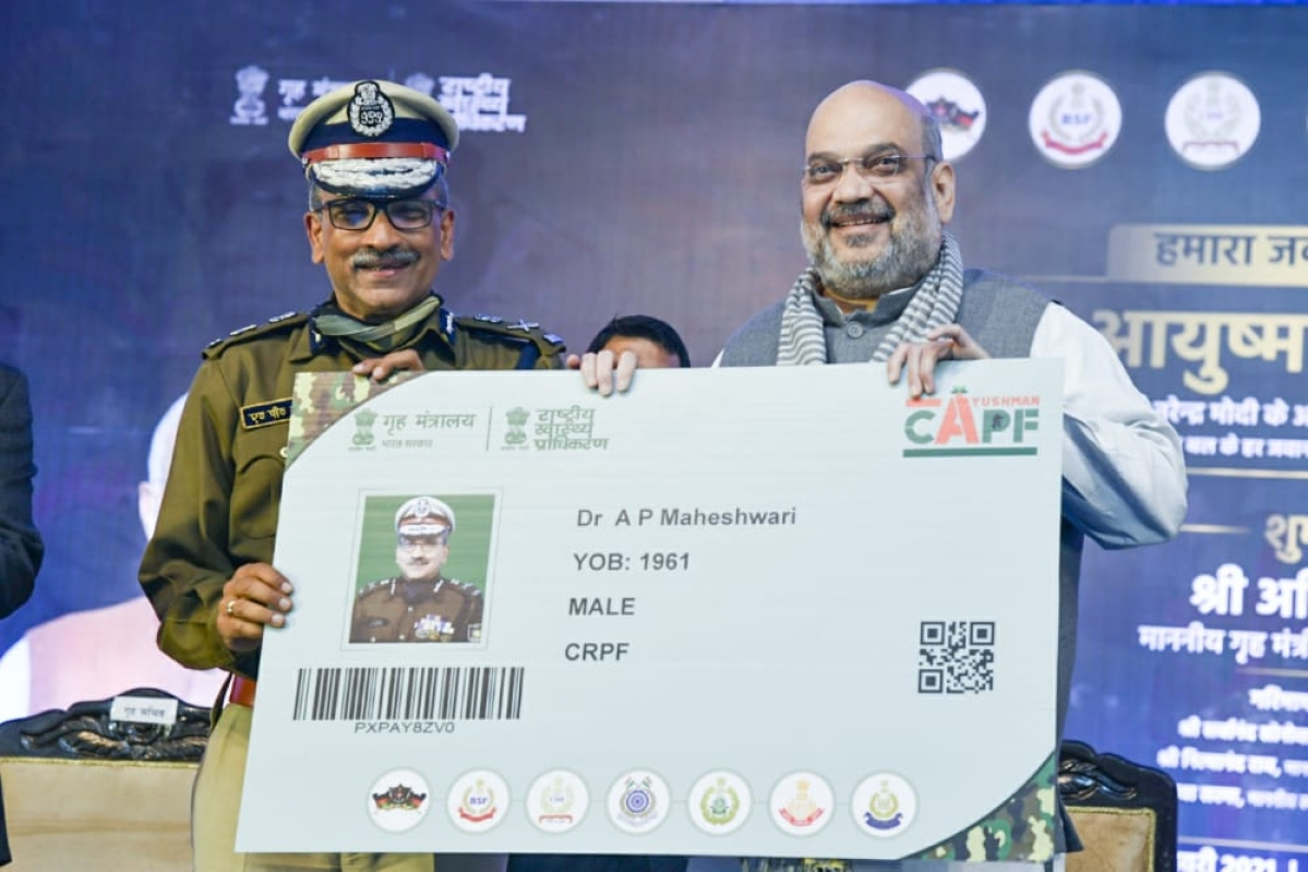Union Home Minister gifts PMJAY benefits to 28 lakh CAPF personnel and their families