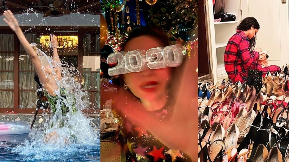 From Malaika Arora's pool splash to Kangana Ranaut's shoe collection, here's how B-town bid adieu to 2020
