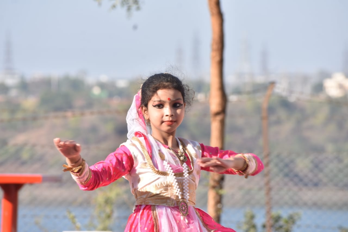 A young perfomer at WALMI in Bhopal