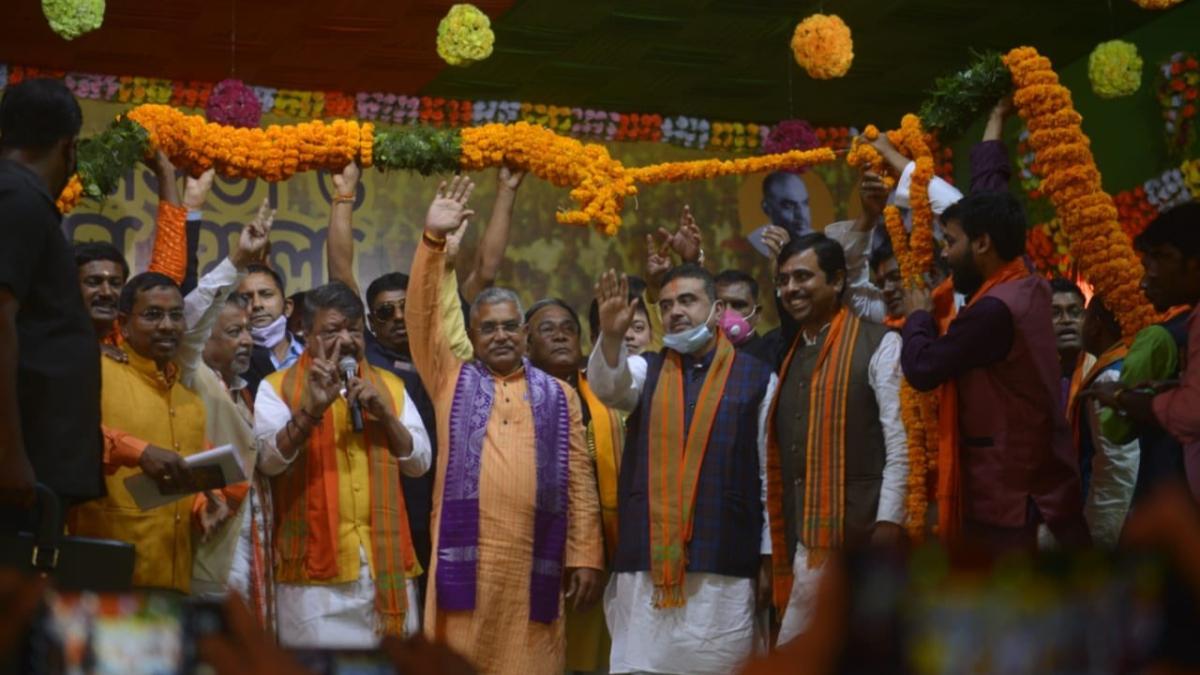 West Bengal: Riding on Suvendu Adhikari's repute, BJP holds mega rally in Nandigram