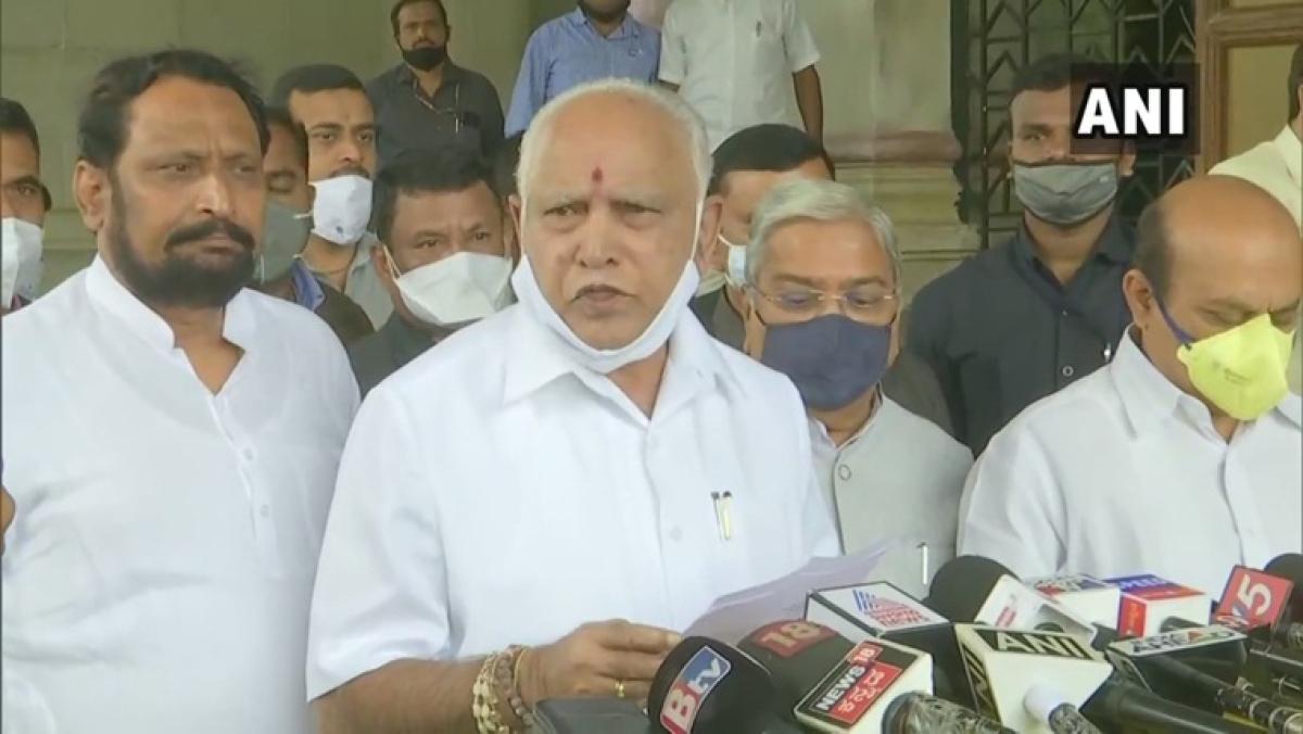 Seven Karnataka legislators to take oath as ministers today, says CM Yediyurappa