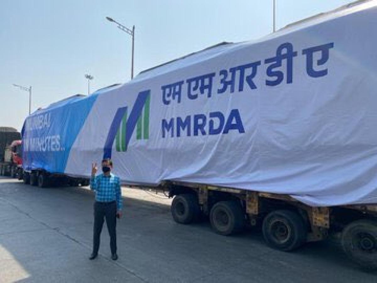 India's first indigenously built metro rake arrives in Mumbai