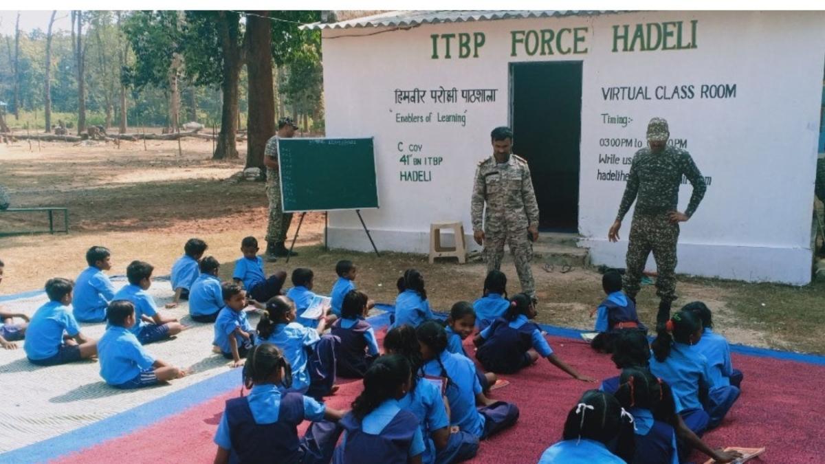Chhattisgarh: To rebuild Naxal-infested areas, ITBP jawans start 'smart classes' for local children