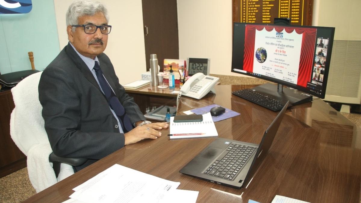A.K. Singh, CMD, NHPC inaugurates 'Remote Sensing and GIS Laboratory'