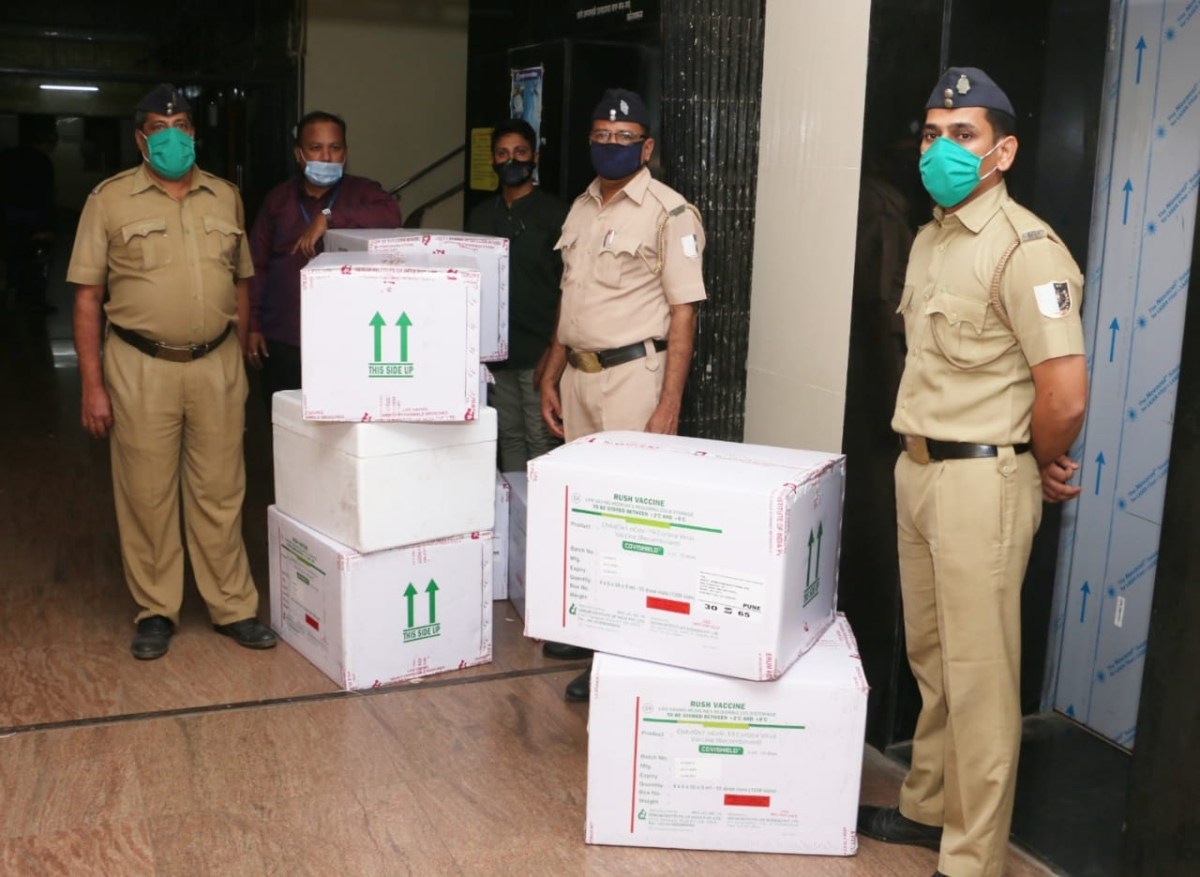 In Pics: Mumbai receives over 1.39 lakh doses of Oxford COVID-19 vaccine Covishield from Serum Institute