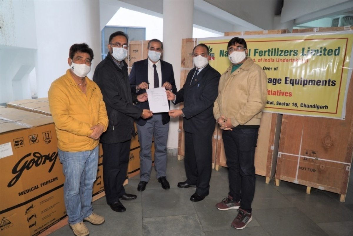 National Fertilizers Limited provides cold storage equipment for Covid-19 vaccine