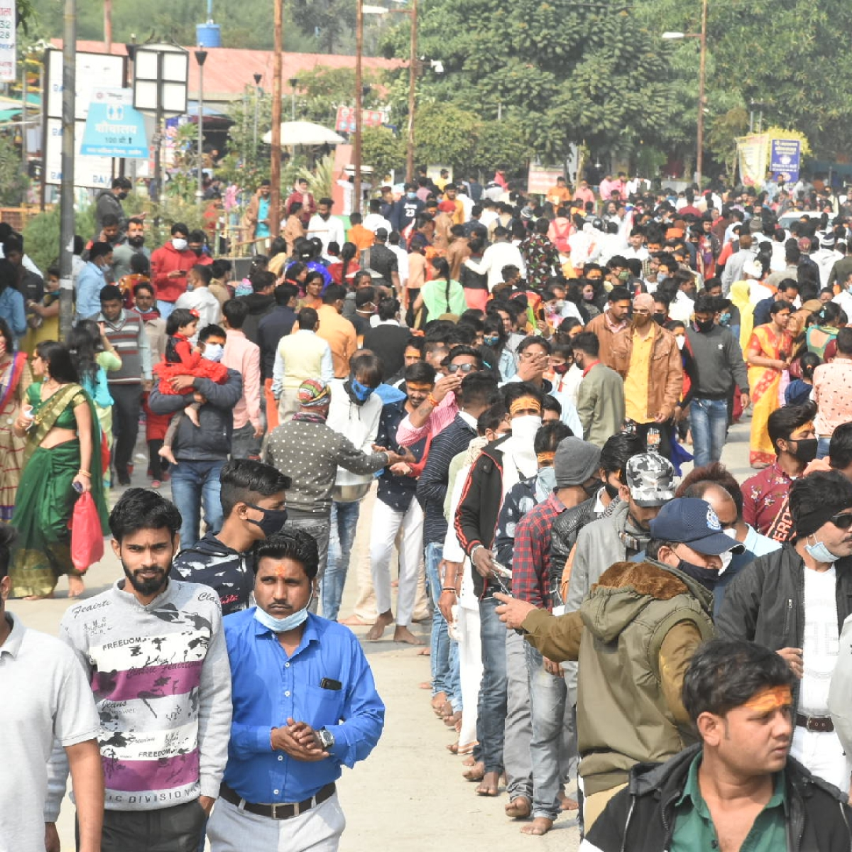 Ujjain:  Mahakal temple witnesses record crowd since Covid outbreak as people begin New Year on spiritual note