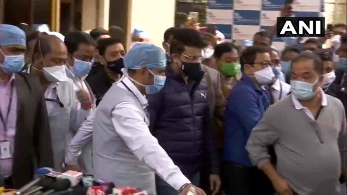 Sourav Ganguly was discharged from hospital on Sunday morning