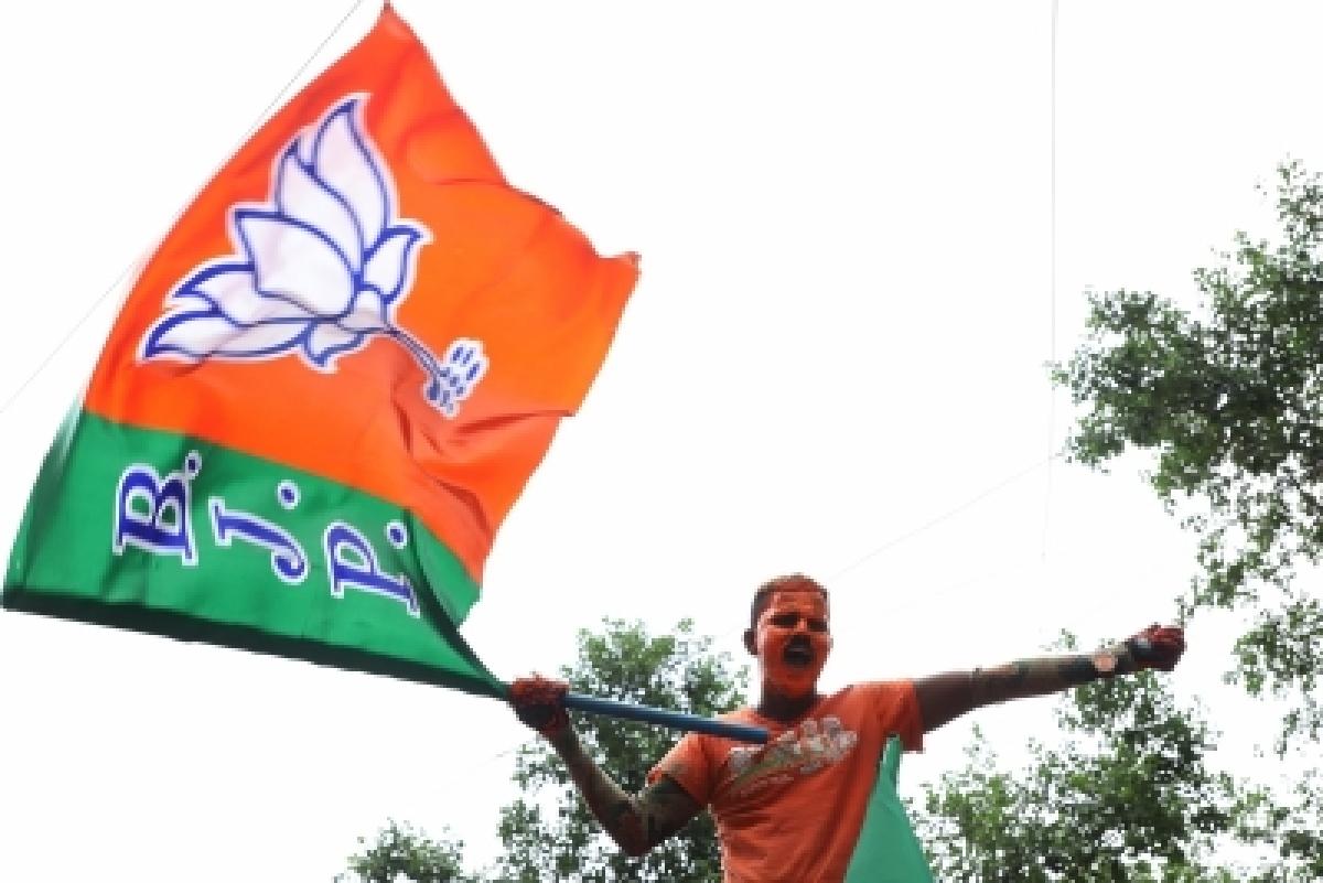 A BJP flag bearer