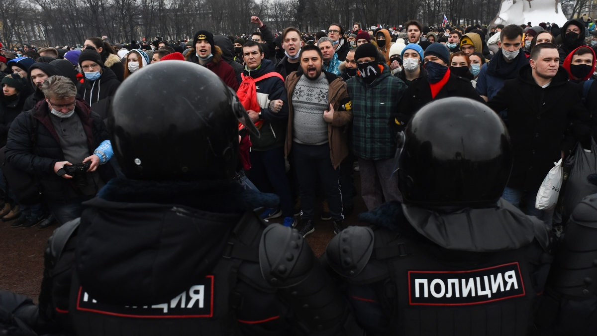 Over 2000 arrested in Russia as thousands rally in support of Kremlin-critic Alexei Navalny