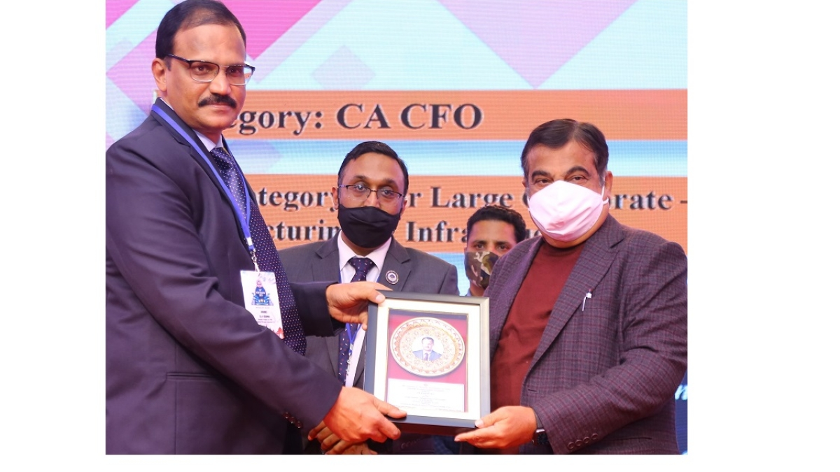 HPCL's Director Finance, R. Kesavan bags 'CA CFO – Large Corporate: Manufacturing & Infrastructure' award