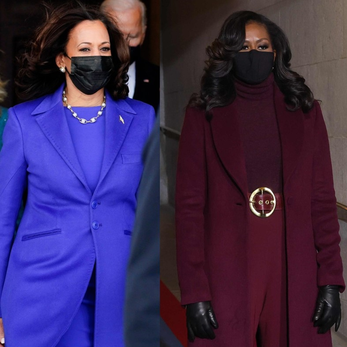 Why did Kamala Harris, Michelle Obama, and Hillary Clinton wear purple outfits to Biden's inauguration?
