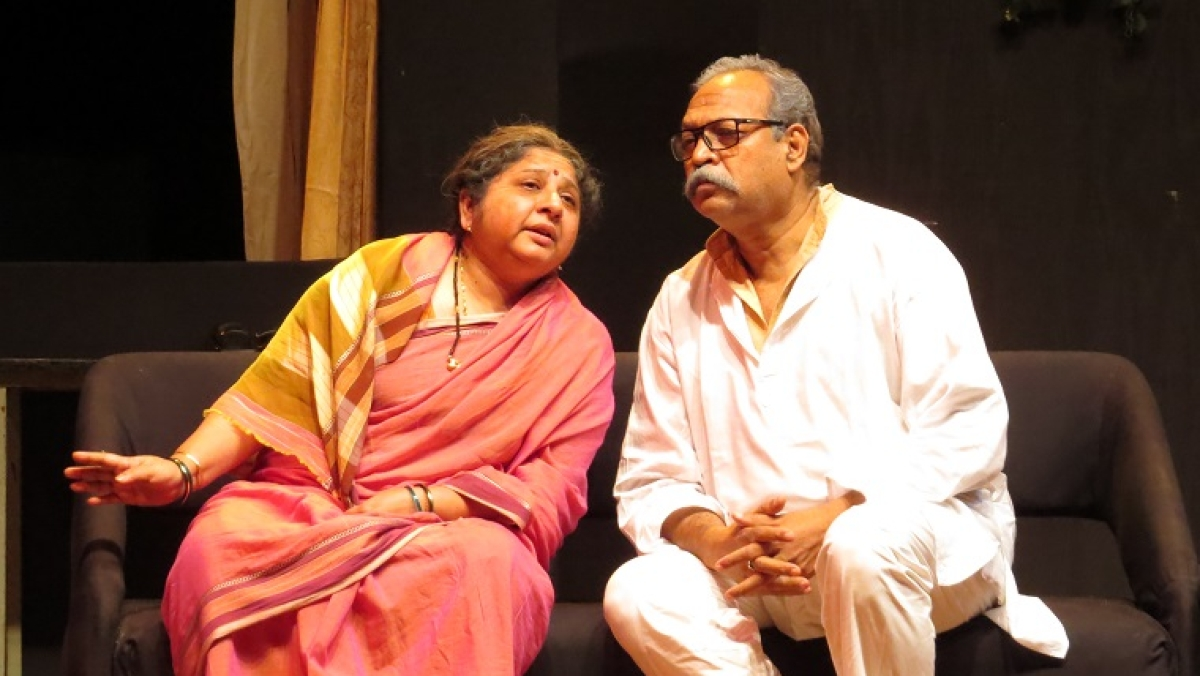 A still from the play Kaalchakra