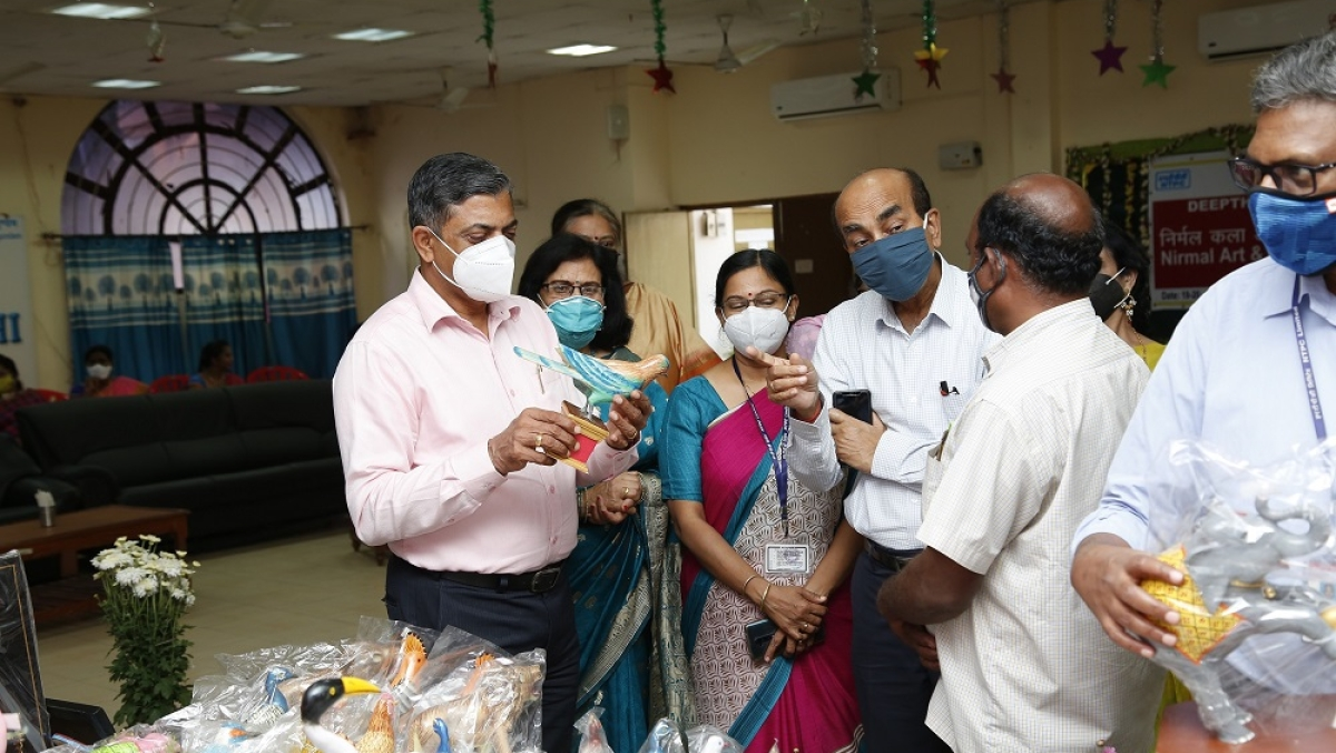 NTPC's Deepthi Mahila Samithi organizes Nirmal Painting exhibition