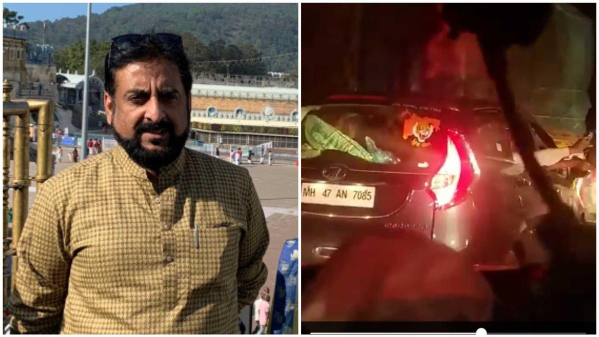 'The logo on the vehicle says it all!': AIMIM's Imtiaz Jaleel posts video of 'Shiv Sainiks brandishing revolver' on Mumbai-Pune Expressway