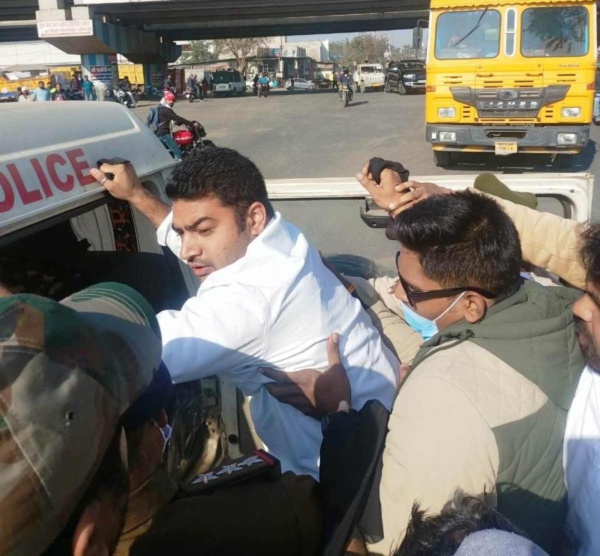 City YC president Ramiz Khan being arrested by police