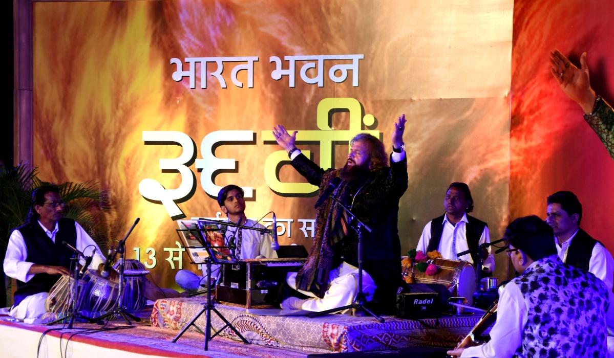 Hans Raj Hans at Bharat Bhavan foundation day celebrations in Bhopal on Saturday