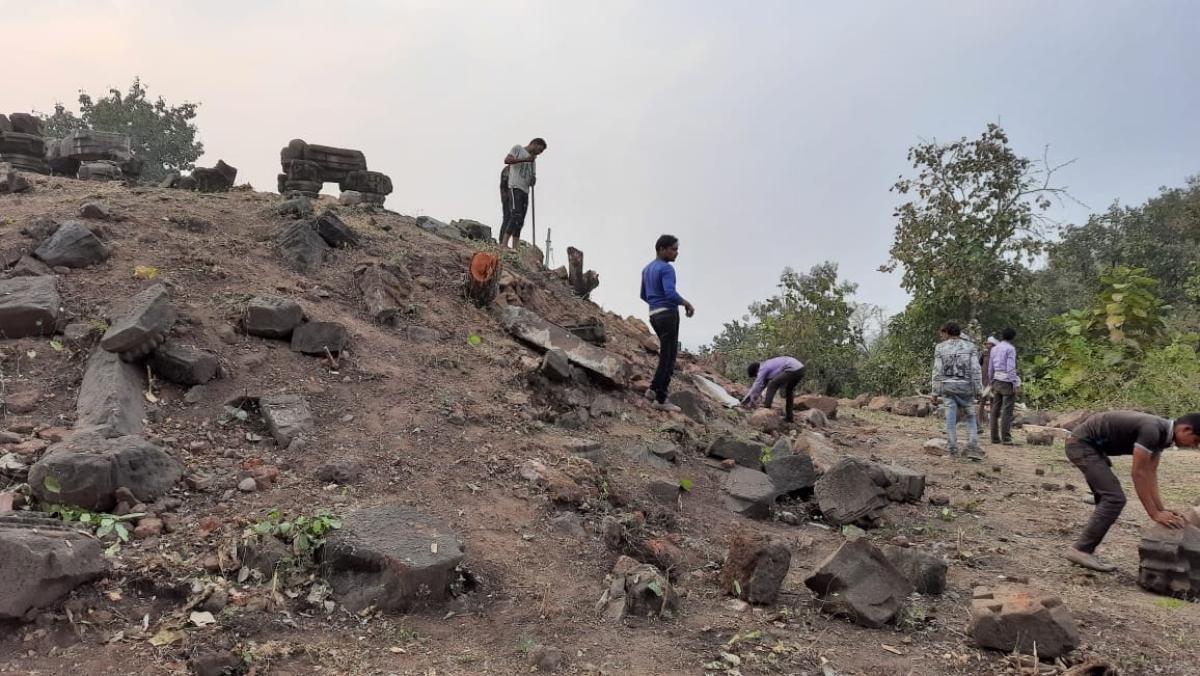 Excavation at site