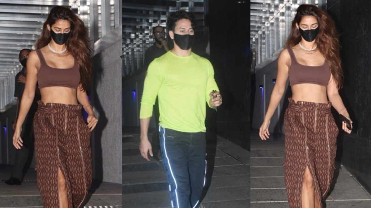 Disha Patani wears Beyonce's Rs 10,000 Icy Park pants for a dinner date with Tiger Shroff