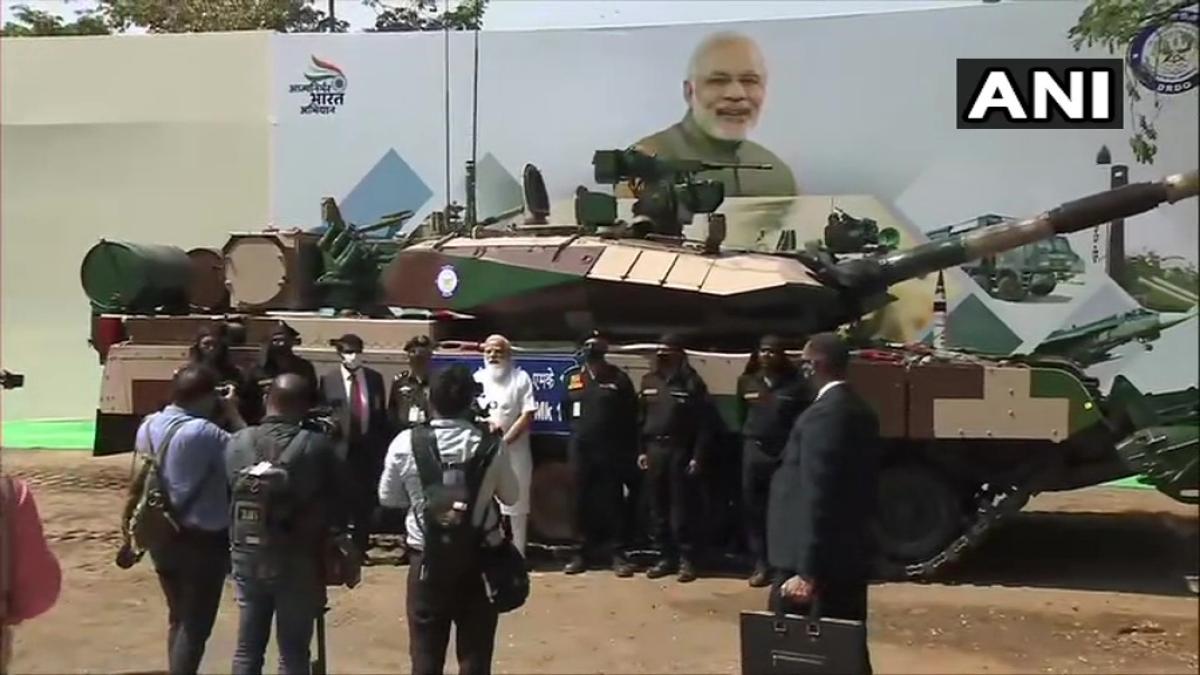 PM Modi hands over Arjun Main Battle Tank (MK-1A) to Army