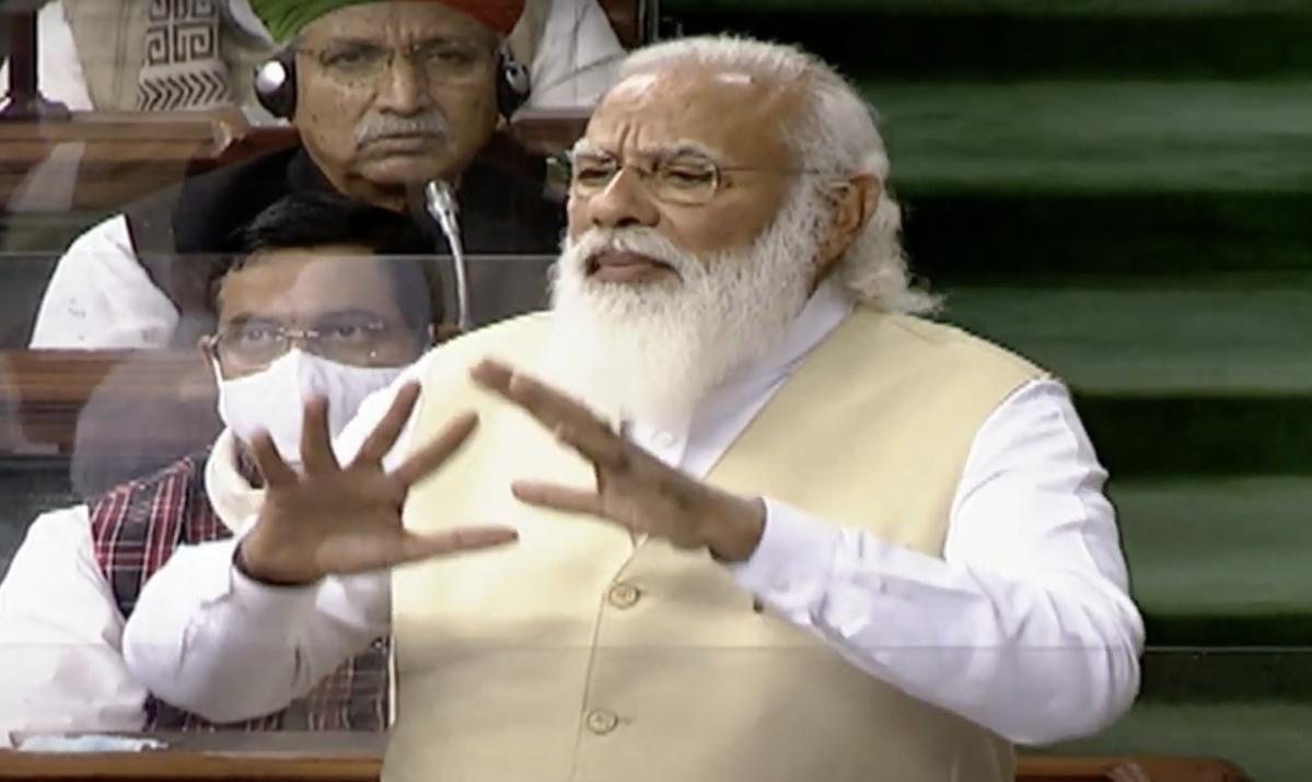 Farmers' pious movement has been dishonoured by 'aandolan-jivis': PM Modi