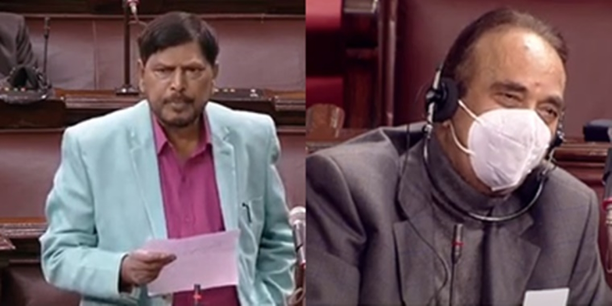 'Aap hum sabhi ko rahenge yaad...': Ramdas Athawale bids poetic farewell to Ghulam Nabi Azad in Rajya Sabha