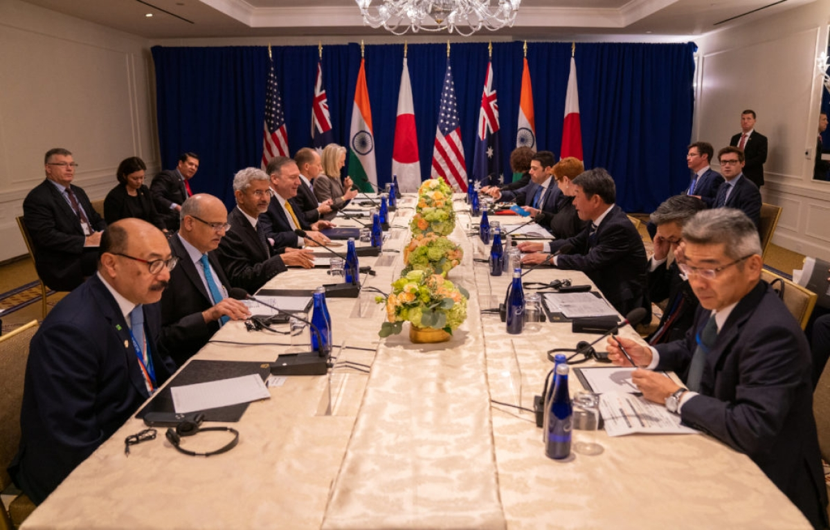 Third Quad ministerial meeting today, first under Joe Biden administration; climate change, COVID-19 on agenda