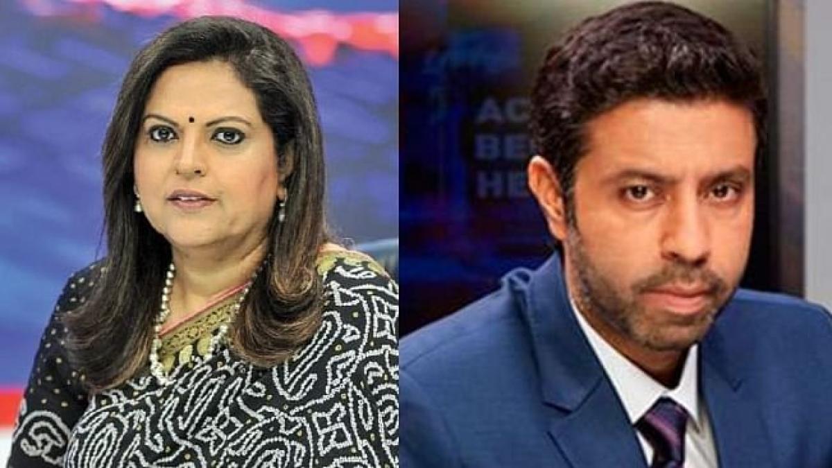 Times Now anchors Navika Kumar and Rahul Shivshankar