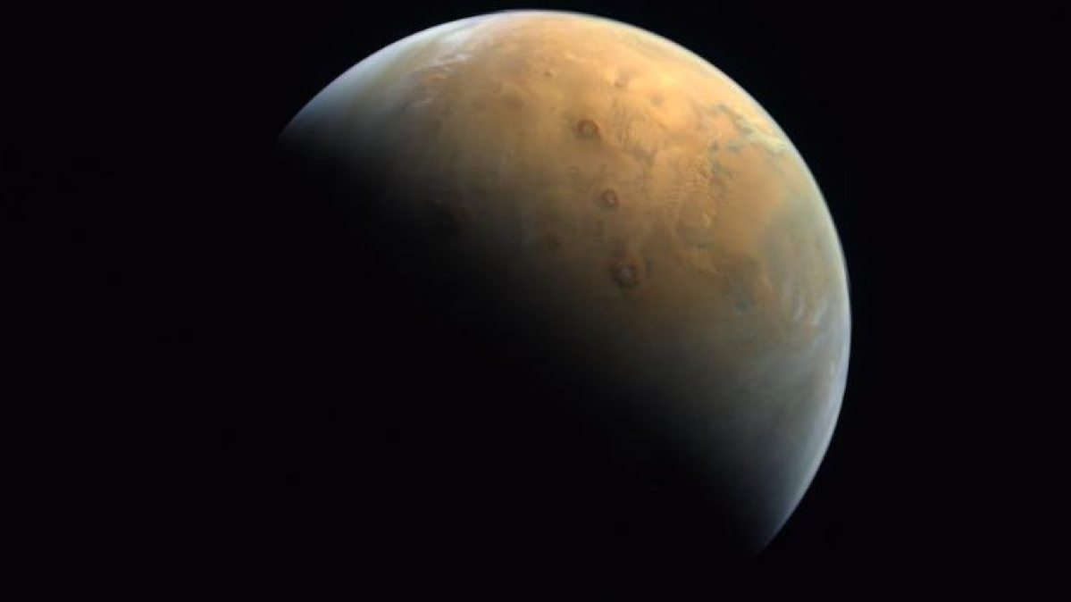 UAE Mars Mission: Abu Dhabi Crown Prince shares first image of Mars sent by space probe 'Hope'